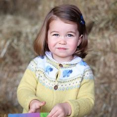 Kate took this photo of Princess Charlotte in honor of her second birthday.
