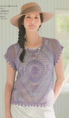 manches courtes de crochet - Renee - Lei Yu Xuan
