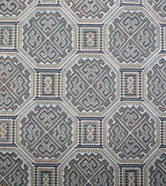 Fabric Manufacturer > Beacon Hill Fabric  Pattern: Chironomy  Color: Aegean  Item #: 97713