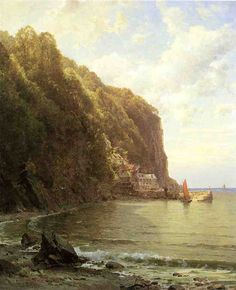"""Coast of Cornwall,"" William Trost Richards, ca. 1878-1880, oil on canvas, 30 x 25"", private collection."
