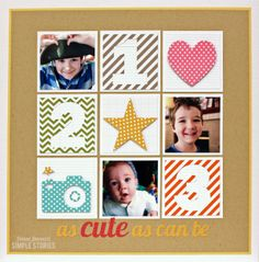 1,2,3... as cute as can be {Simple Stories} - Scrapbook.com