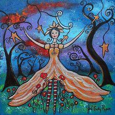 Art: Star-girl by Artist Juli Cady Ryan