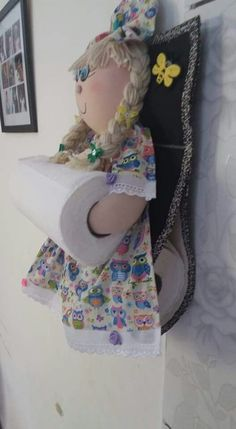 Doll Clothes Patterns, Doll Patterns, Sewing Patterns, Sewing Crafts, Sewing Projects, Bathroom Crafts, Plastic Bag Holders, Gift Wrapper, Paper Towel Holder