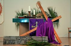 Pinterest church lent decorations   Church decor in the season of lent. Description from pinterest.com. I searched for this on bing.com/images