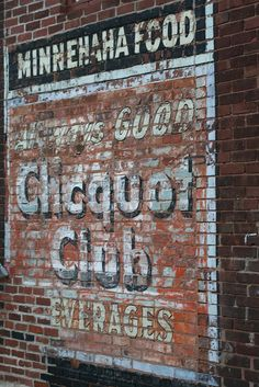Minnehaha Food Market ghost sign
