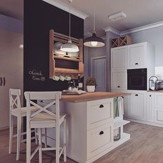 Kolejna realizacja by me&my mum❤Photo by ❤Co mysicie? Pachuca, Cool Kitchens, Home Projects, Interior Inspiration, Small Spaces, Decoration, Kitchen Decor, Ikea, Sweet Home