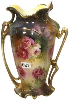"""9"""" MARKED RSP & RS GERMANY (RV MOLD #2) VASE"""