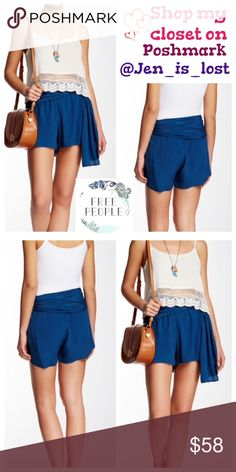 """Free People Sapphire Shorts Size  4 Free People Sapphire Shorts Size  4 A waist sash adds summer boho style to a crepe short.  Concealed side zip closure.  Approx. 11"""" rise, 3"""" inseam.""""  100% rayon.  NWT.  🚫No Trades🚫 ✅Reasonable Offers Are Considered✅ Use the blue offer button. Free People Shorts"""
