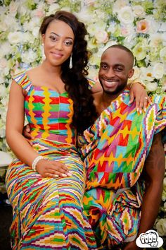 Fashion Ghana Magazine | Mr. and Mrs. Opoku | Kente Wedding | African Fashion