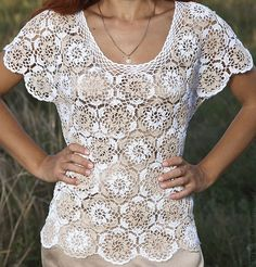 летняя блуза крючком - Поиск в Google
