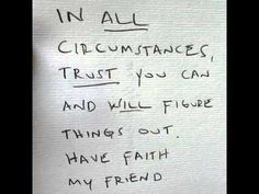 In all circumstances...