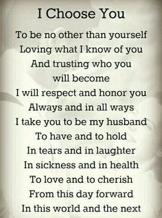 wedding vows Wedding Quotes : Picture Description Romantic Wedding Vows Examples For Her and For Him Wedding Vows For Him, Romantic Wedding Vows, Vows For Her, Before Wedding, Wedding Rustic, Nontraditional Wedding Ceremony, Christian Wedding Vows, Wedding Hair, Wedding Vows That Make You Cry