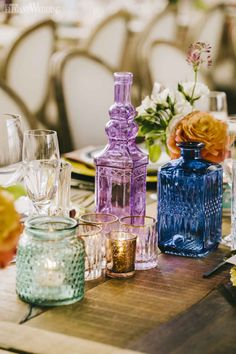 Garden Wedding Filled with Colour Colourful Wedding Glassware Decor, Eclectic Wedding Decor, Indoor Garden Wedding Ideas Marie's Wedding, Wedding Games, Wedding Table, Rustic Wedding, Wedding Venues, Wedding Ceremony, Indoor Garden Wedding Reception, Spring Wedding, Trendy Wedding