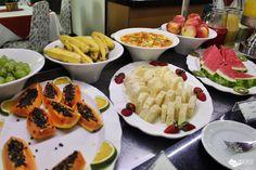Café da manhã do Max Savassi Apart Service, excelente opção de hospedagem em Belo Horizonte.