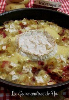 Gratin de pommes de terre, lardons et camembert