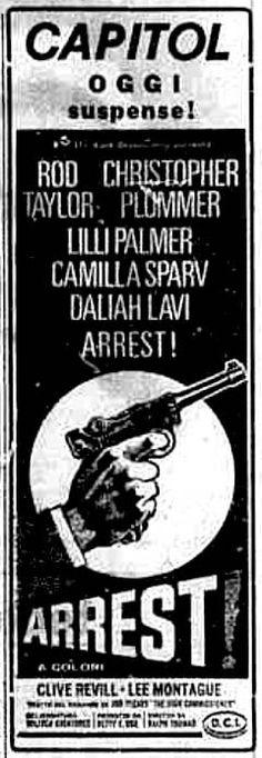 """Arrest!"" (Nobody Runs Forever, 1968) di Ralph Thomas, con Rod Taylor e Christopher Plummer. Italian release: April 16, 1969 #MoviePosters #ChristopherPlummer #SpyStory"