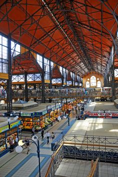 The Great Market Hall or Central Market Hall is the largest indoor market in Budapest. It was designed and built by Samu Pecz around 1896.   The market offers a huge variety of stalls on three floors. A distinctive architectural feature is the roof which was restored to have colorful Zsolnay tiling.