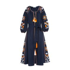 Runway Dresses 2016 Women High Quality Vintage Ethnic Geometric Embroidery Long Maxi Dress Autumn Long Sleeve A Line Vestidos Boho Fashion, Fashion Dresses, Maxi Dresses, Dresses 2016, Long Tunic Dress, Travel Dress, Embellished Dress, Embroidered Dresses, Embroidery Dress