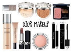 """""""DIOR MAKEUP"""" by queenstone on Polyvore featuring beauté, Christian Dior, simple, Dior, makeup, nude et maquillage"""