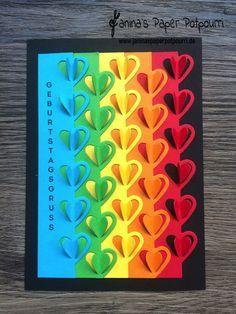 jpp - Karte Regenbogen Herzen / rainbow hearts / sneak peek / OnStage 2016 / Schauwand Designer / Display Stamper / Stampin' Up! Berlin / Liebesgrüße / love notes / sealed with a kiss www.janinaspaperpotpourri.de