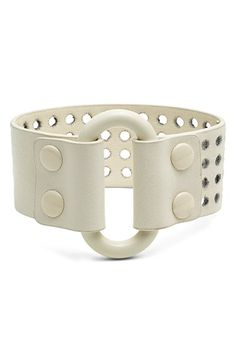 MARC+BY+MARC+JACOBS+Wide+Leather+Bracelet+available+at+#Nordstrom