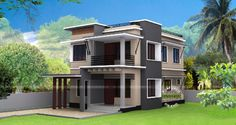 30 Lakhs Rupees cost estimated modern house (Kerala home design) Architecture Magazines, Amazing Architecture, House Architecture, Kerala House Design, Kerala Houses, House Elevation, 3 Bedroom House, Cool House Designs, Apartment Design