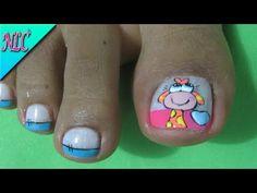 Homemade Skin Care, Toe Nails, Pedicure, Nail Designs, Nail Art, Beauty, Youtube, Toe Nail Art, Simple Toe Nails