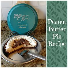 This is one of our favorite desserts! Click for the full recipe!  Ingredients: 3/4 cup creamy peanut butter 1 (3 ounce) package cream cheese 1 1/4 cups confectioners' sugar 1 (12 ounce) container frozen whipped topping, thawed 1 (9 inch) prepared chocolate cookie crumb crust 3-4 Reese's peanut butter cups Can of whipped cream (optional) ..........