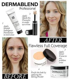 Achieve a #FLAWLESS yet FULL coverage look with #Derrmablend See my full review plus before & after Pics on the blog! #makeup #face #cosmetics #beauty