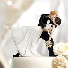 Tortenfigur / Tortenaufsatz Tanzendes Brautpaar aus liebevoll handbemaltem Porzellan
