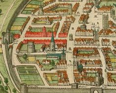 A medieval era picture of the walled city of Exeter