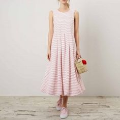 Red Stripe Carly Bubble Dress