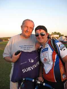 2008 Texas 4000 rider Emily dedicated her ride to Alaska to her father, who is a Myxoid Liposarcoma survivor. She was inspired by his strength and courage during the fight. www.texas4000.org