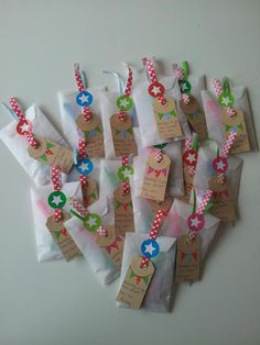 Art and Craft: Washi Tape Cards- use washi tape to make mini bunting on cards