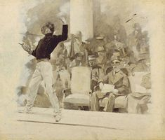 Fencing before the king of Greece, 1896, by André Castaigne