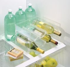Stackable storage racks that'll keep your bottles from rolling around in the fridge. | Here's What People Are Buying On Amazon Right Now