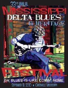2010 Blues Festival Poster