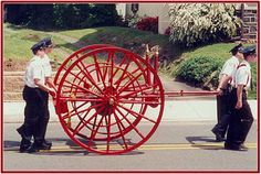 cart Vintage fire hose