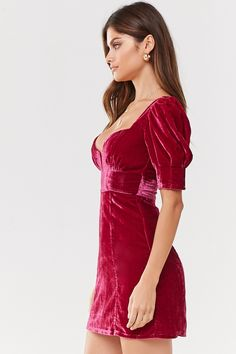 Velvet Homecoming Dress, Homecoming Dresses, Pink Velvet Dress, 15 Dresses, Formal Dresses, Feather Dress, Cutout Dress, Princess Seam, Everyday Fashion