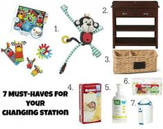 A great list of what products to make sure you have at your baby's changing station #BabyCenter