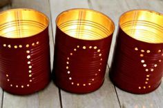DIY Christmas Tin Can Luminaries -- 10 Pinterest-ing DIY Christmas Decor Ideas