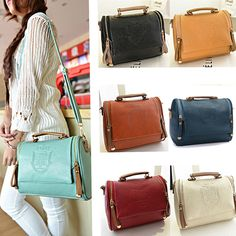 $12 - Women Leather Handbag Shoulder Bag Tote Purse Cross Body Messenger Girl Satchel
