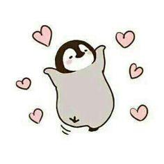 Its so cute penguin drawing foundonline Pinguin Drawing, Pinguin Tattoo, Cute Animal Drawings, Kawaii Drawings, Easy Drawings, Pinguin Illustration, Cute Illustration, Penguin Art, Penguin Love