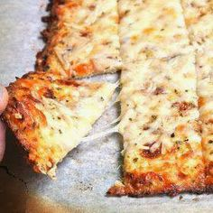Now You Can Pin It!: Cauliflower Breadsticks Holy crap!! Yum! Karen it will be healthy and feed our cheese addiction haha.