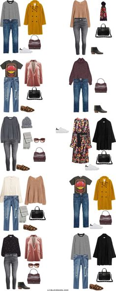 What to Pack for Bath, England Packing Light List Outfit Options 11-20 #travellight #packinglight #packinglist #travel #traveltips #capsule #capsulewardrobe #livelovesara