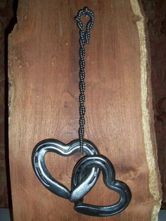 RESERVED for allison  - Double Horse Shoe Heart Wall Pendants