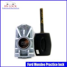 29.75$  Buy here - http://dibc9.justgood.pw/ali/go.php?t=32699182051 - professional Locksmith Supplies Ford Mondeo Auto /Car Practice Lock Cylinder With Car Key Locksmith Tools Training Car Lock 29.75$