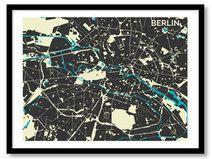 Kunstdruck Berlin Urban Cartography