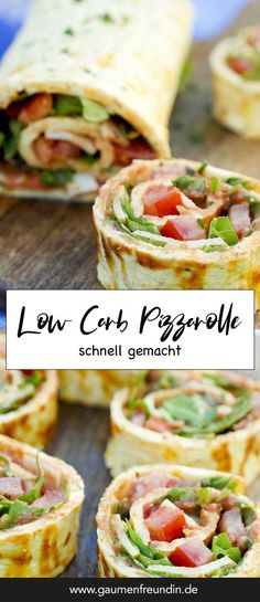 Low carb pizza roll - a quick and healthy low carb recipe-Low Carb Pizzarolle – ein schnelles und gesundes Low Carb Rezept Fast low carb pizza roll with chicken, tomatoes, … - Healthy Low Carb Recipes, Low Carb Dinner Recipes, Healthy Chicken Recipes, Diet Recipes, Pizza Recipes, Recipe Chicken, Healthy Food, Dessert Recipes, Healthy Pizza
