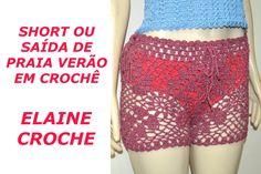 SHORT OU SAÍDA DE PRAIA VERÃO EM CROCHÊ Crochet Shorts, Crochet Clothes, Crochet Bikini, Boho Shorts, Lace Shorts, Short Tejidos, Crochet Videos, Summer Shorts, Crochet Projects